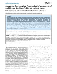 Plos One : Analysis of Genome-wide Chang... by Hernandez-lemus, Enrique