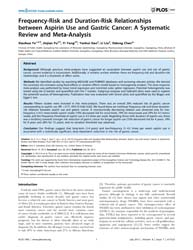 Plos One : Frequency-risk and Duration-r... by Lebedeva, Irina V.