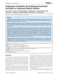 Plos One : Prophylactic Antibiotics for ... by Burdmann, Emmanuel A.