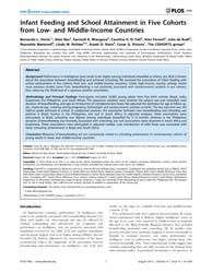 Plos One : Infant Feeding and School Att... by Nunes, Monica Da Silva