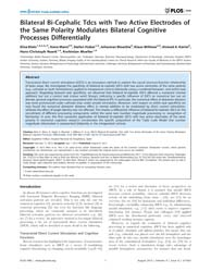 Plos One : Bilateral Bi-cephalic Tdcs wi... by Foffani, Guglielmo
