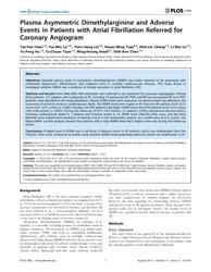 Plos One : Plasma Asymmetric Dimethylarg... by Schmidt, H H W, Harald