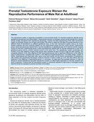 Plos One : Prenatal Testosterone Exposur... by Torrens, Christopher