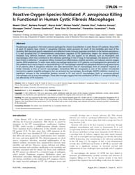 Plos One : Reactive-oxygen-species-media... by Gulbins, Erich