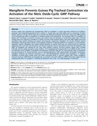 Plos One : Mangiferin Prevents Guinea Pi... by Heymann, Dominique