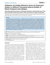 Plos One : Validation of Suitable Refere... by Woodhall, Gavin L
