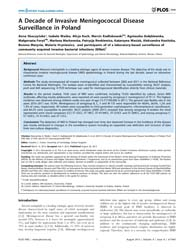 Plos One : a Decade of Invasive Meningoc... by Trotter, Caroline L.