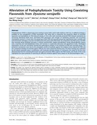 Plos One : Alleviation of Podophyllotoxi... by Barchi, Joseph J.