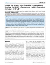 Plos One : S100A8 and S100A9 Induce Cyto... by Wilson, Emma H.