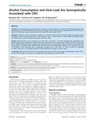 Plos One : Alcohol Consumption and Viral... by Medeiros, Rui