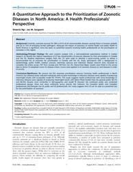 Plos One : a Quantitative Approach to th... by Speybroeck, Niko