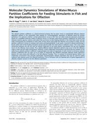 Plos One : Molecular Dynamics Simulation... by Jr, Freddie Salsbury