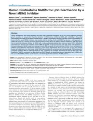 Plos One : Human Glioblastoma Multiforme... by Velasco, Guillermo