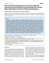 Plos One : Environmental Consequences of... by Palli, Subba Reddy