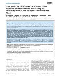 Plos One : Dual-specificity Phosphatase ... by Kanzaki, Makoto