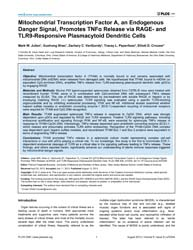 Plos One : Mitochondrial Transcription F... by Fitzgerald-bocarsly, Patricia