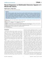 Plos One : Neural Responses to Multimoda... by Becchio, Cristina