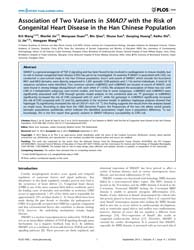 Plos One : Association of Two Variants i... by Goumans, Marie Jose