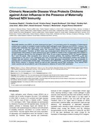 Plos One : Chimeric Newcastle Disease Vi... by Thiel, Volker