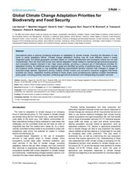 Plos One : Global Climate Change Adaptat... by Cannon, Alex J