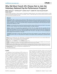 Plos One : Why Did Most French Gps Choos... by Logerfo, James