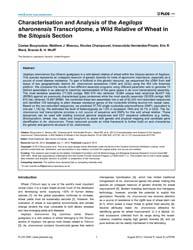 Plos One : Characterisation and Analysis... by Kashkush, Khalil