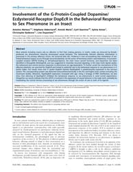 Plos One : Involvement of the G-protein-... by Gronenberg, Wulfila