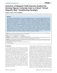 Plos One : Detection of Magnetic Field I... by Zeil, Jochen