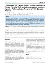 Plos One : Effect of Reactive Oxygen Spe... by Mohanraj, Rajesh
