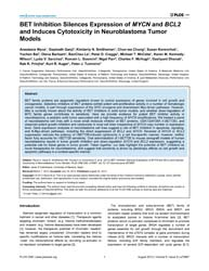Plos One : Bet Inhibition Silences Expre... by Castresana, Javier S