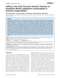Plos One : Calling in the Cold ; Pervasi... by Russo, Danilo