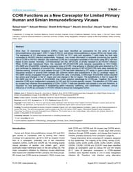 Plos One : Ccr6 Functions as a New Corec... by Apetrei, Cristian