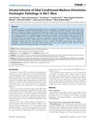 Plos One : Striatal Infusion of Glial Co... by Borchelt, David R