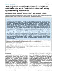 Plos One : Tlr2 Regulates Neutrophil Rec... by Hartl, Dominik