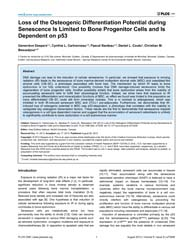 Plos One : Loss of the Osteogenic Differ... by Gallouzi, Imed Eddine