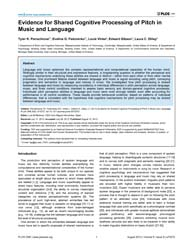 Plos One : Evidence for Shared Cognitive... by Martinez, Luis M