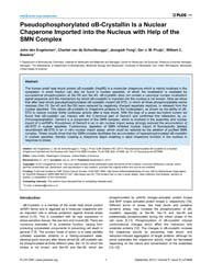 Plos One : Pseudophosphorylated Αb-cryst... by Andley, Usha