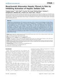 Plos One : Bevacizumab Attenuates Hepati... by Rodriguez-ortigosa, Carlos M