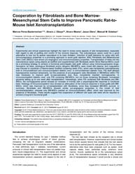 Plos One : Cooperation by Fibroblasts an... by Chatenoud, Lucienne