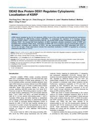 Plos One : Dead Box Protein Ddx1 Regulat... by Wilusz, Carol J