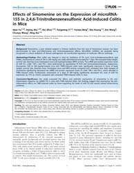 Plos One : Effects of Sinomenine on the ... by Cheng, Jin Q.