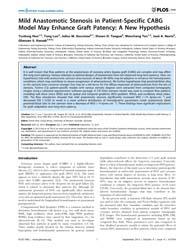 Plos One : Mild Anastomotic Stenosis in ... by Wong, Kelvin Kian Loong