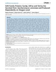 Plos One : Sun Family Proteins Sun4P, Ut... by Arkowitz, Robert Alan