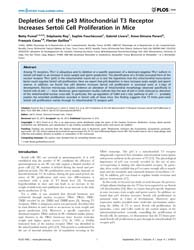 Plos One : Depletion of the P43 Mitochon... by Drevet, Joel R.
