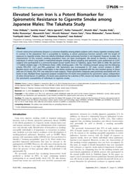 Plos One : Elevated Serum Iron is a Pote... by Thatcher, Thomas H.