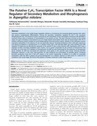 Plos One : the Putative C2H2 Transcripti... by Goldman, Gustavo Henrique