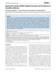 Plos One : Gymnemic Acids Inhibit Hyphal... by Chauhan, Neeraj