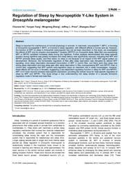 Plos One : Regulation of Sleep by Neurop... by Gilestro, Giorgio F