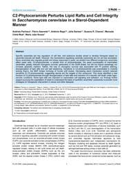 Plos One : C2-phytoceramide Perturbs Lip... by Wang, Yanchang