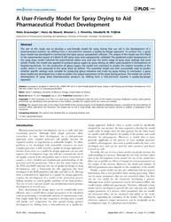 Plos One : a User-friendly Model for Spr... by Eddington, T. David